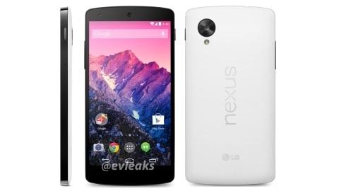 Beyaz Nexus 5'in basın görüntüsü yayımlandı