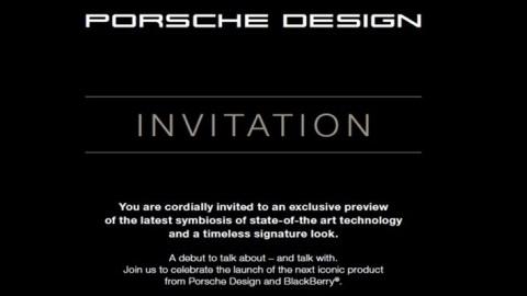 BlackBerry Porsche Design P'9982 24 Kasım'da resmiyet kazanıyor