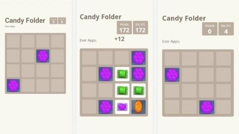 Candy Folder: 2048 ve Candy Crush melezi bulmaca oyunu