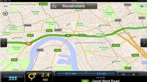 CoPilot GPS iOS Uygulaması