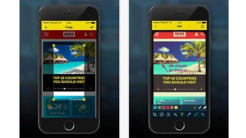 Cropy iOS Ekran Görüntüsü Alma Uygulaması