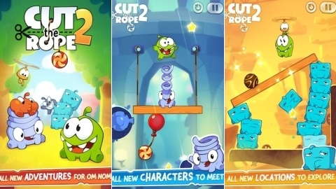 Cut the Rope 2 oyunu iPhone, iPad ve iPod touch için çıktı