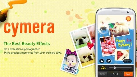 Cymera Android ve iOS uygulaması ile farklı görüntüler