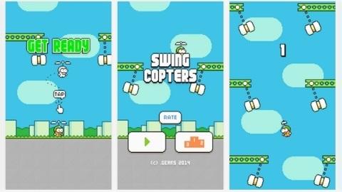Flappy Bird geliştiricisinden Swing Copters iOS ve Android oyunu çıktı