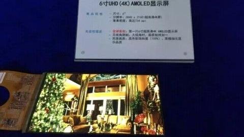 6 inçlik ilk 4K Ultra HD AMOLED panel resmen tanıtıldı
