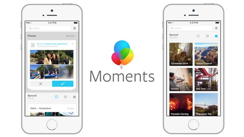 Facebook Moments iOS Uygulaması