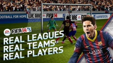 FIFA 14'ün mobil versiyonu dünya genelinde indirmeye sunuldu