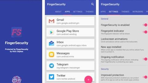 FingerSecurity Android Parmak izi Güvenlik Uygulaması