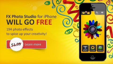 Fx Photo Studio iOS uygulaması kısa süreliğine ücretsiz