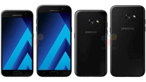 Galaxy A3 2017 ve A5 2017'nin yeni basın görüntüleri sızdı