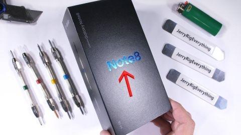 Video: Galaxy Note 8 dayanıklılık testi