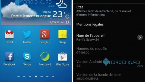 Galaxy S4 için Android 4.3 işletim sistemli üretici yazılımı görüntülendi