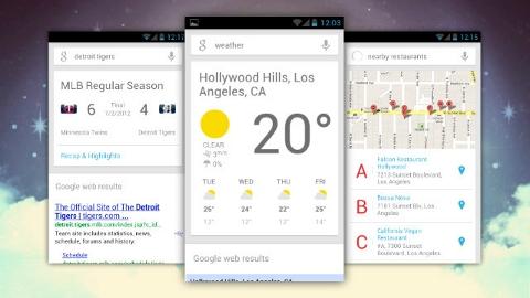 Google Now  App Store'a hiç gitmemiş