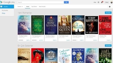 Google Play Books Türkiye'de kullanıma sunuldu