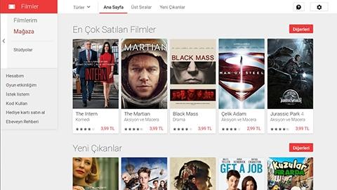 Google Play Filmler servisi resmen Türkiye'de