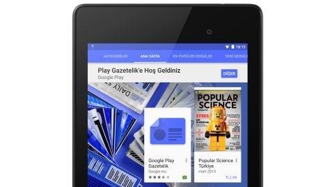 Google Play Gazetelik hizmeti Türkiye'de