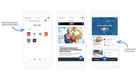 Google'den yeni paylaşım platformu: Spaces