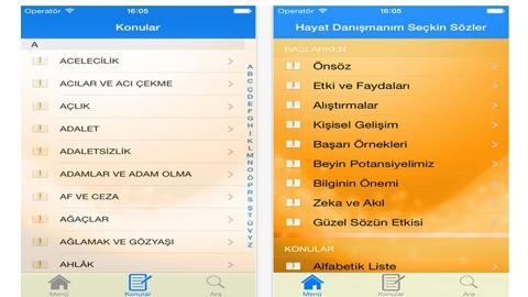 Hayat Danışmanım Seçkin Sözler iOS Uygulaması