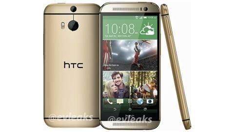 HTC One 2 altın renkli basın görseli sızdı