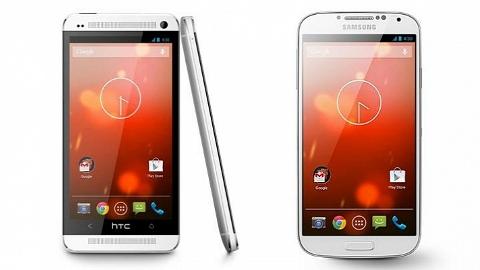 HTC One ve Samsung Galaxy S4 Google Edition Play Store'da satışa çıktı