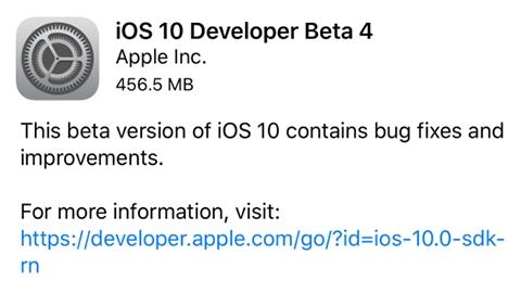 iOS 10.1 beta 4 yayımlandı