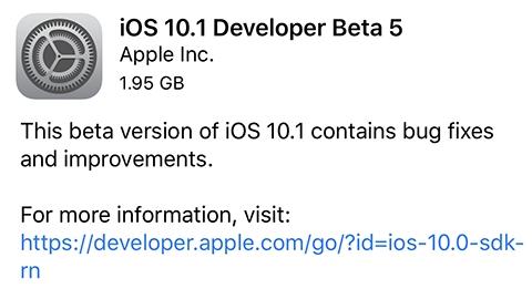 iOS 10.1 beta 5 dağıtılmaya başladı