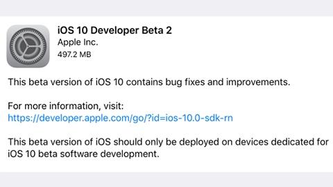 iOS 10 beta 2 yayımlandı
