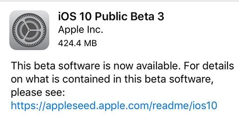 iOS 10 güncellemesinin üçüncü genel beta dağıtımı gerçekleştirildi
