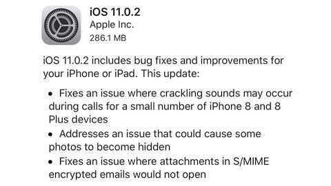 iOS 11.0.2 güncellemesi çıktı