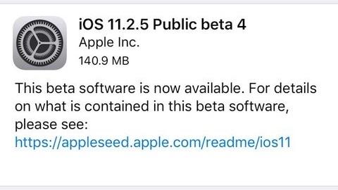 iOS 11.2.5 beta 4 yayımlandı