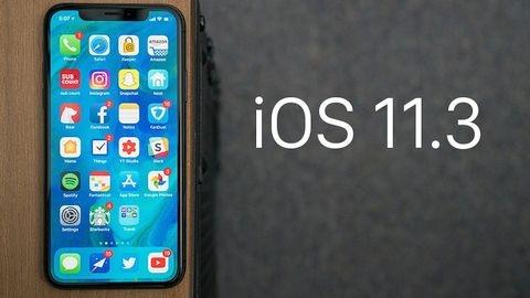 iOS 11.3 güncellemesi yayımlandı