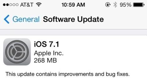 iOS 7.1 güncellemesi nihayet yayımlandı
