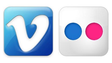 iOS 7 Flickr ve Vimeo ile birlikte geliyor