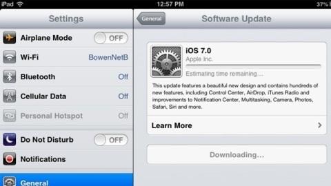 iOS 7, iPhone, iPad ve iPod touch için dağıtılmaya başladı