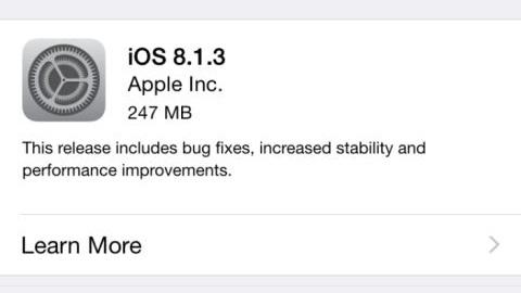 iOS 8.1.3 güncellemesi dağıtıma sunuldu