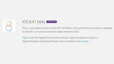 iOS 8.4.1 güncellemesinin ilk deneme sürümü yayımlandı