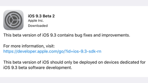 iOS 9.3 güncellemesinin ikinci deneme sürümü çıktı