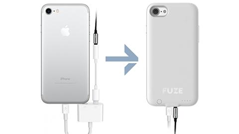 iPhone 7 için 3.5 mm ses jakını geri getiren kılıf