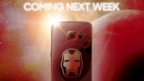 Galaxy S6 Edge Iron Man Edition'dan ilk görüntü