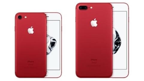 Kırmızı iPhone 7 duyuruldu