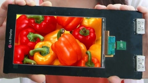 LG Display, Quad HD çözünürlüklü ilk akıllı telefon ekranını tanıttı