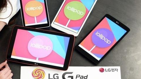 LG G Pad 8.3 ve diğer LG tabletler için Android Lollipop güncellemesi
