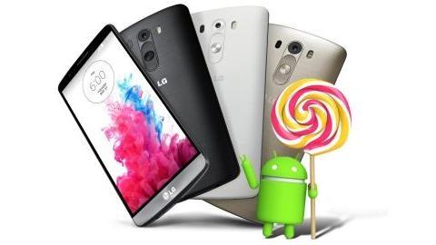LG G3'ün Android 5.0 Lollipop güncellemesi 13 ülkede daha başladı