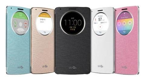 LG G3 için QuickCircle resmi koruyucu kılıf tanıtıldı
