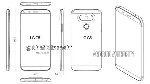 LG G5'in şematik görüntüsü ve bazı teknik özellikleri ortaya çıktı