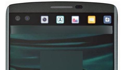 İkinci ekrana sahip LG V10 telefonun basın görüntüleri yayımlandı