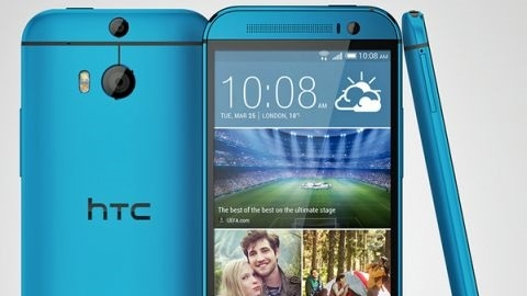 Mavi HTC One M8 görüntülendi