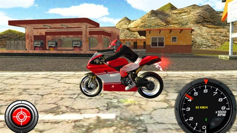 Andorid ve iOS için motor yarışı oyunu Bike Ridge - Turbo Rally Race