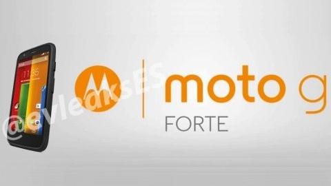 Motorola'nın yeni dayanıklı telefonu Moto G Forte olacak