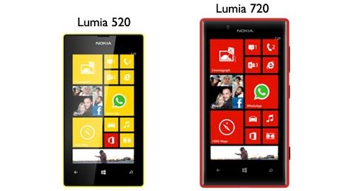 Nokia Lumia 520 ve Lumia 720 satış fiyatları belli oldu